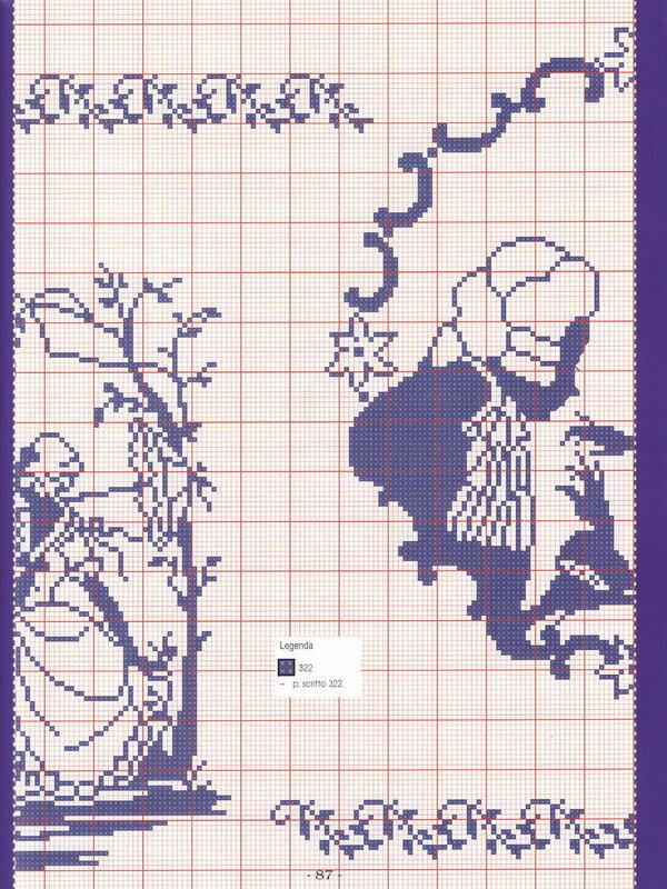 схемы вышивки крестом монохром
