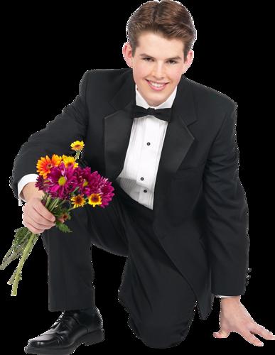Праздником поздравление, картинки мужчина с цветами в руках на коленях