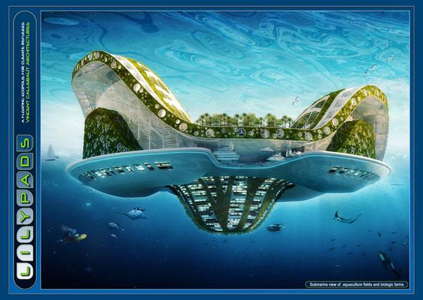 Проэкт города на воде от Винсента Каллебота