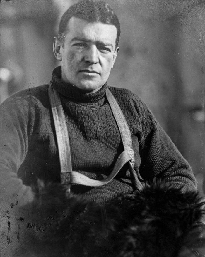 1. Эрнест Шеклтон, начальник Имперской трансантарктической экспедиции. Южный полюс был достигнут за