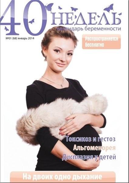 Книга Журнал:  40 недель. Календарь беременности №1 (январь 2014)