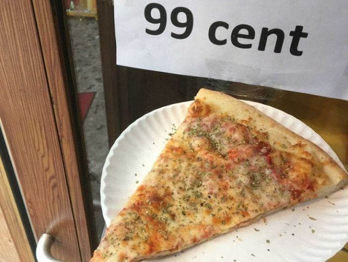 Один кусочек пиццы