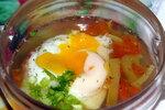 Суп Мадридский с гренками и яйцами-пашот