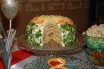 Слоеный салат с блинами Золото партии