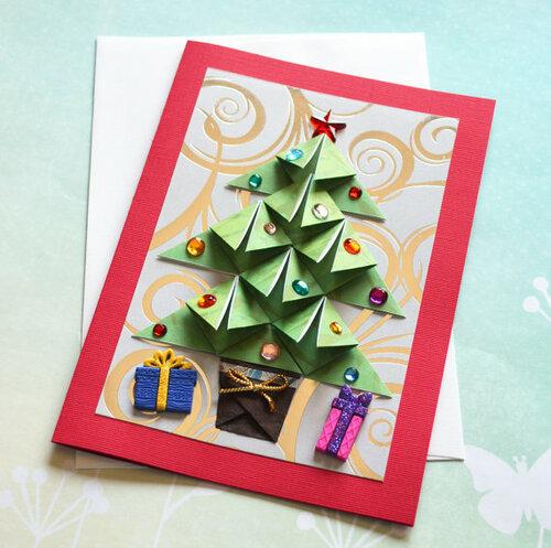 Хендмейд открытки в технике оригами
