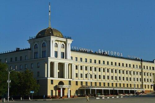 Белгород, центральная площадь, гостиница Белгород, 2010, фото Sanchess