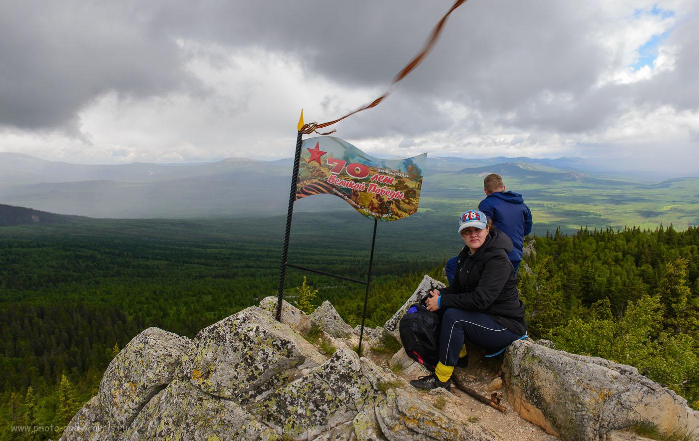 8. Конный поход из турбазы Малиновка в Башкирии. На вершине горы Ялангас (400, 26, 9.0, 1/100)