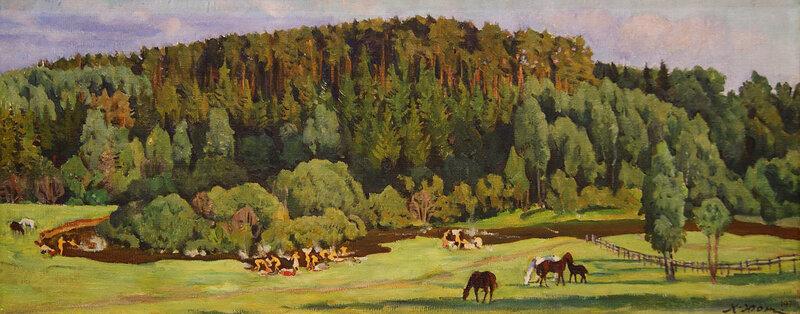 Константин Юон. Летний вечер. 1910-е