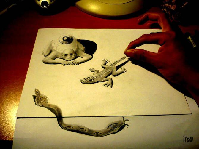 Удивительные трехмерные рисунки