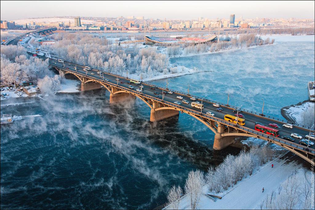Высотный Красноярск зимой