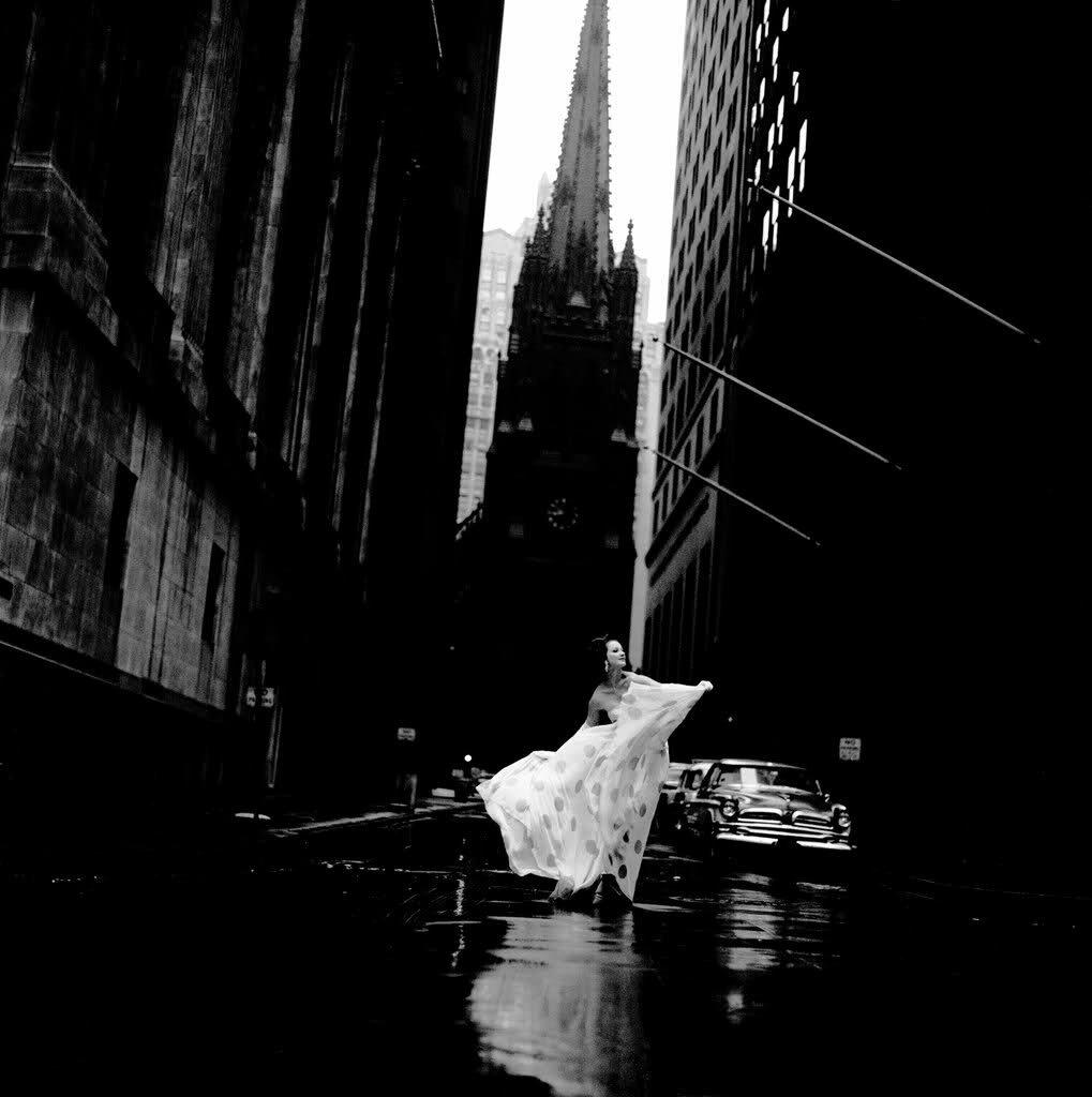 Jerry Schatzberg.Betsy Pickering on Wall Street, 1958