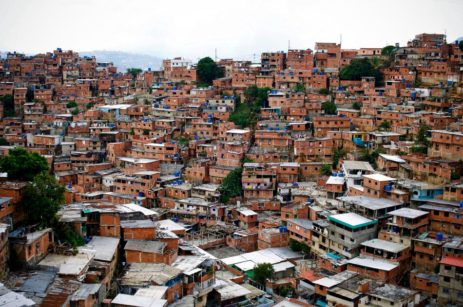 A view of the Petare slum, know as one of ther most violent areas of Caracas, Venezuela.