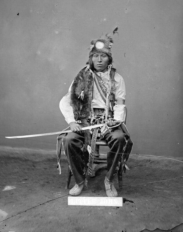 Little John, Mandan male, 1880s