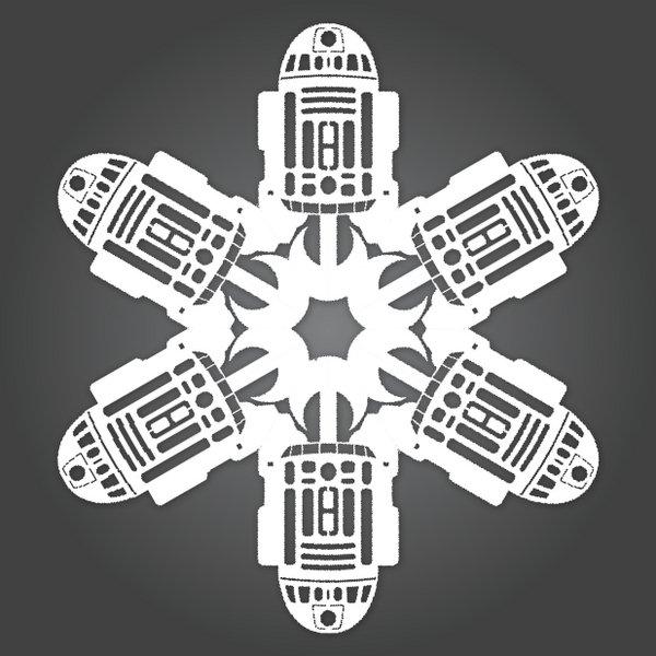 Вот вам вариант: снежинки в стиле Звездных Войн.  Все просто.  Каждая картинка ссылается на pdf-файл со схемой.