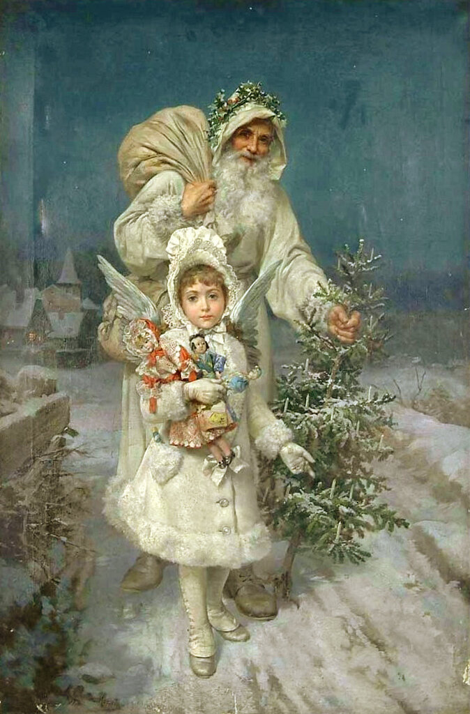 Antoine Garcia y Mencia (1852-1918) «Memories of Christmas»