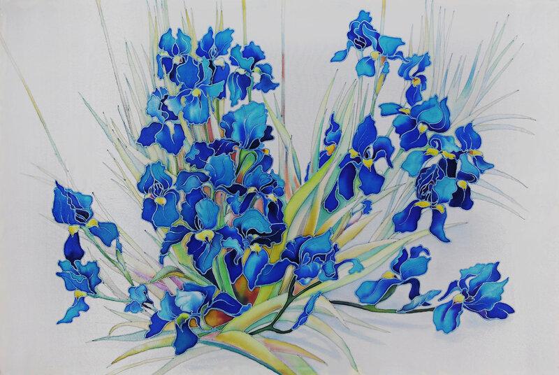 Синие ирисы.