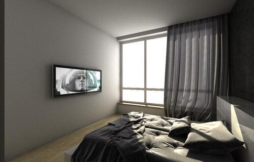 квартира, Париж, Франция VIZ_NewAero_BedRoom_Vray0000.jpg