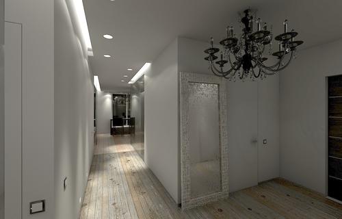 Франция, прихожая, покрытие пола доска, коридор, люстра, подсветка, проект, интерьер, архитектура, , Париж, Франция, светильники
