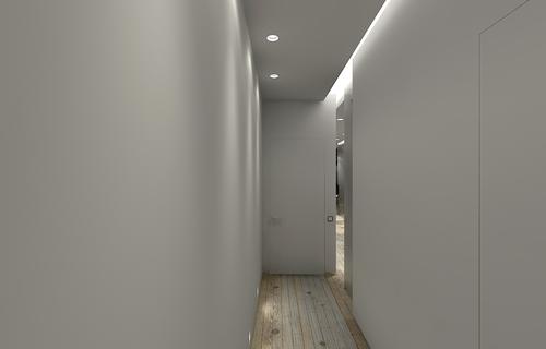 коридор подсветка, двери, покрытие пола, Париж, Франция, светильники