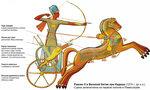Рамзес II на колеснице в битве при Кадеше