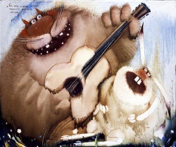 Очаровательные коты с картин Валерия Хлебникова