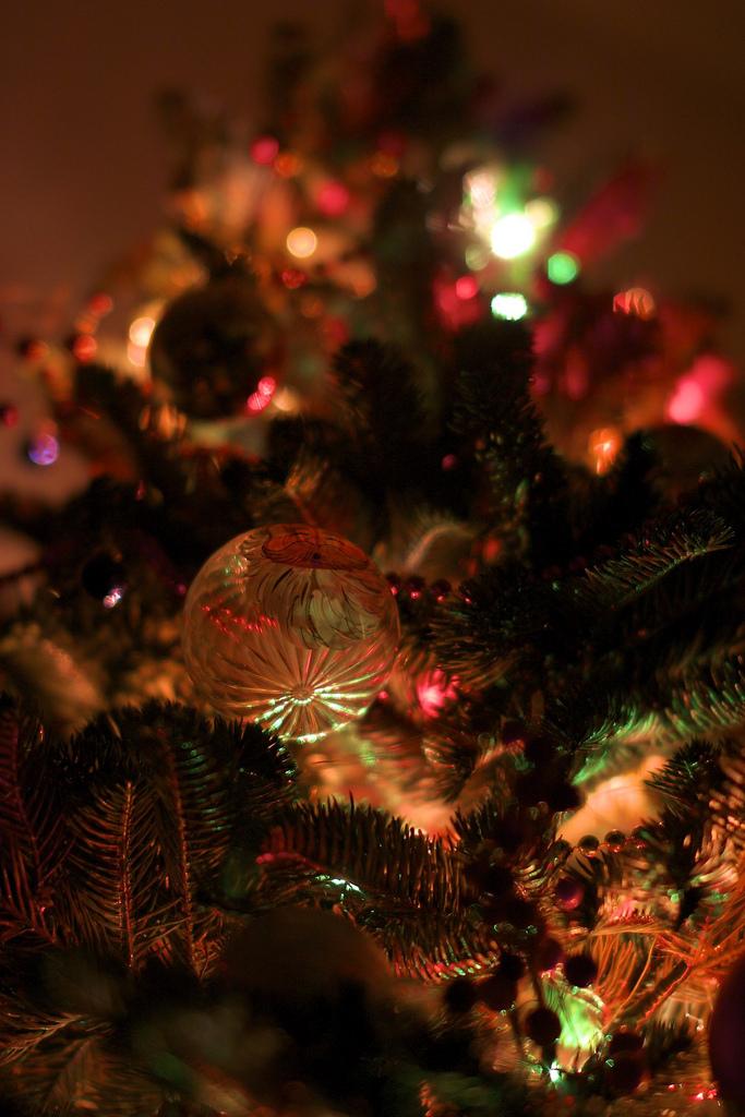 Праздничное новогоднее боке