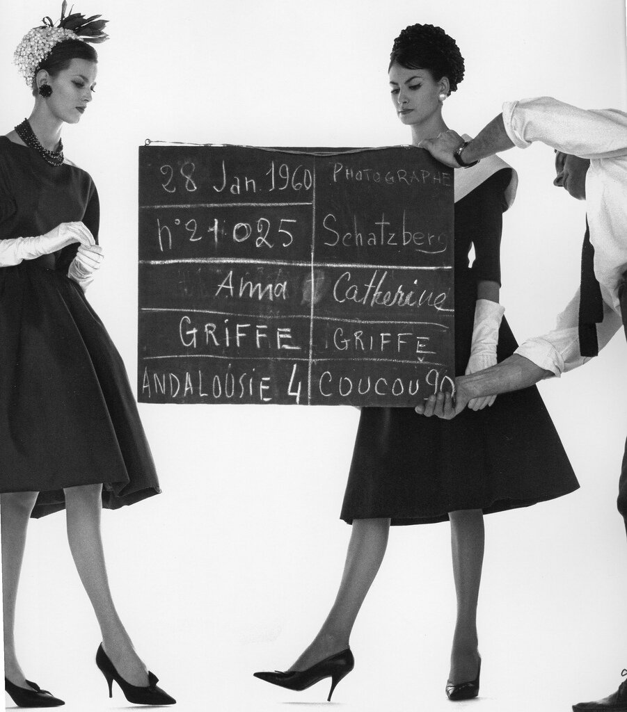 Anna Carin and Katherine Pastrie in dresses by Jacques Griffe, Paris 1960