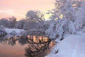Зимой на рассвете.