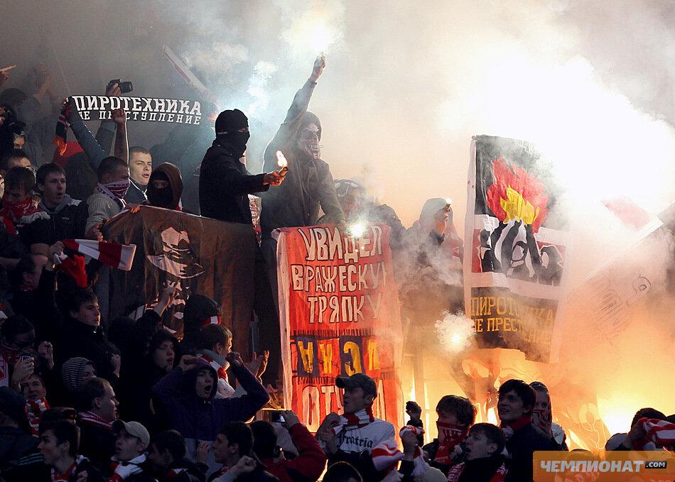 Фанаты «Спартака» и перфоманс 2011 (Фото)