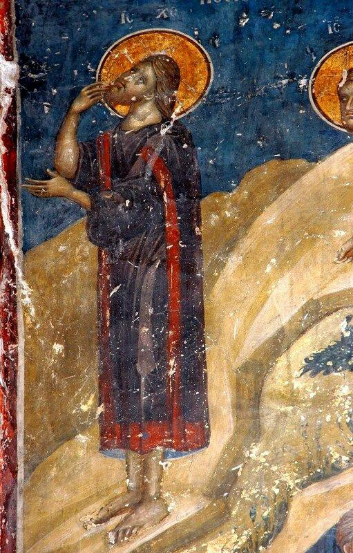 Моление о Чаше. Фреска церкви Св. Николая Орфаноса в Салониках, Греция. XIV век. Фрагмент.
