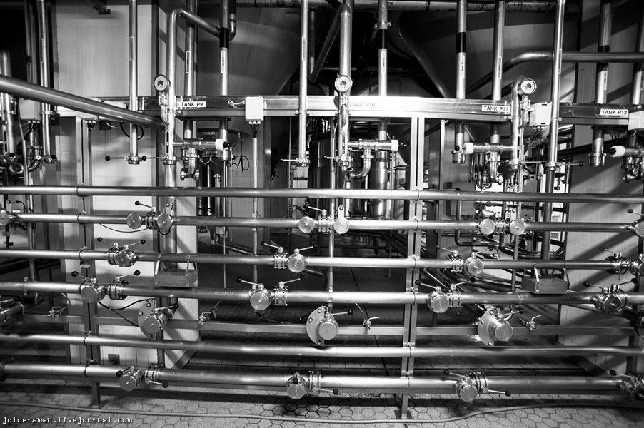трубы по которым текут километры чешского пива