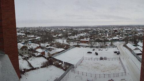 Вид из окна единственной пока новостройки района «Жана кала» на Наримановку. По новому генплану здесь должны встать многоэтажки, но когда?