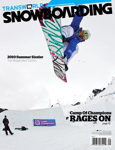 Варианты обложки Transworld Snowboarding из Лагеря Чемпионов