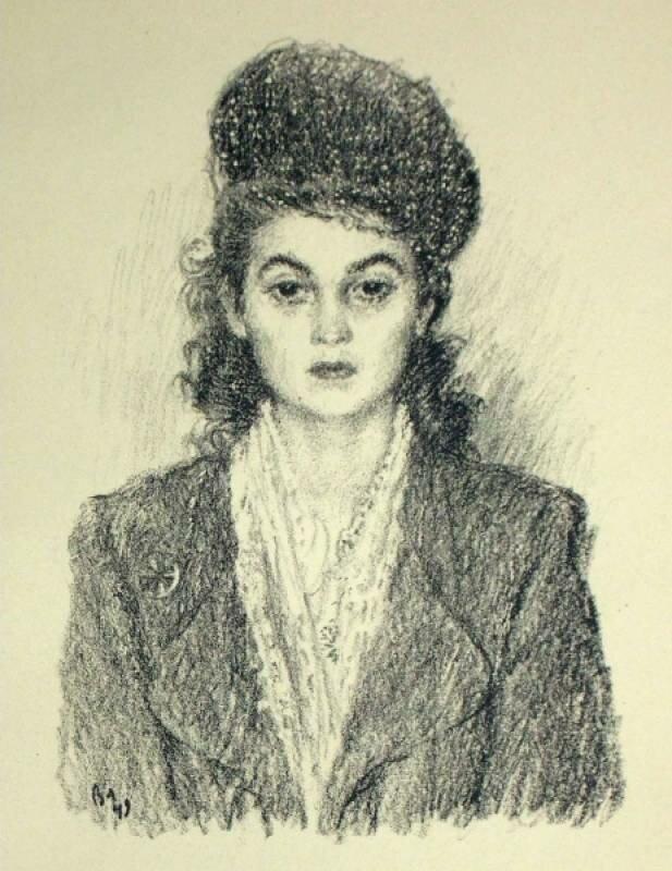 Женский портрет в шляпке | Portrait of a Woman