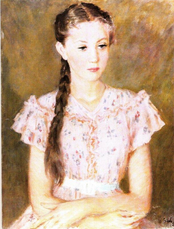Портрет А.А. Салтыковой, 1954 г. | Portrait of A. Saltykova, 1954