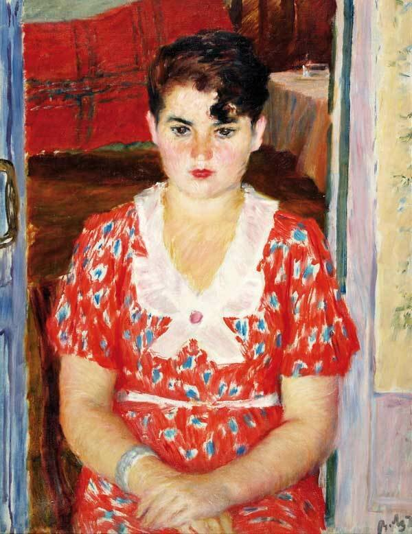 Девушка с челкой, 1924 г. Холст, масло. 62х48. Аукционный дом СовКом