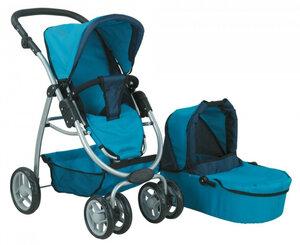 Кукольная коляска для куклы Buggy Boom 8062 синяя.jpg
