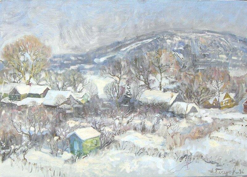 Зимний Дудергоф. х/м. 35х50