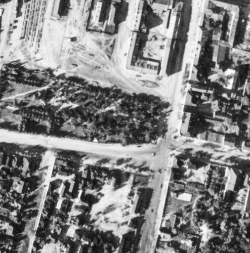 Белгород. Центральная площадь, аэросъемка 1941г.