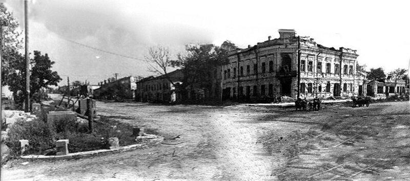 Вид на ул. Попова после освобождения, бывший дом Самойлова