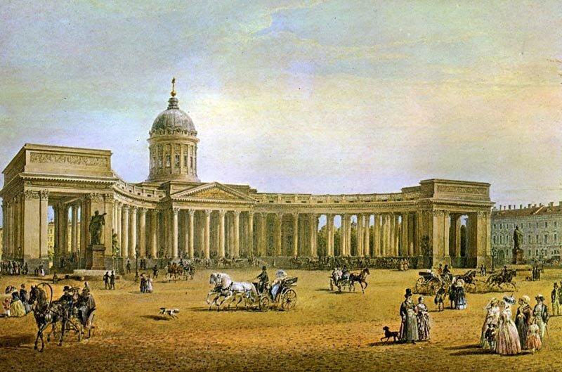 В.С. Садовников. Вид Казанского собора