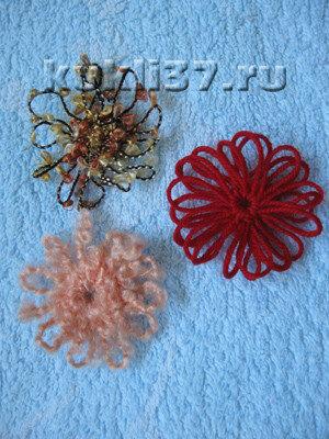 цветы из ниток