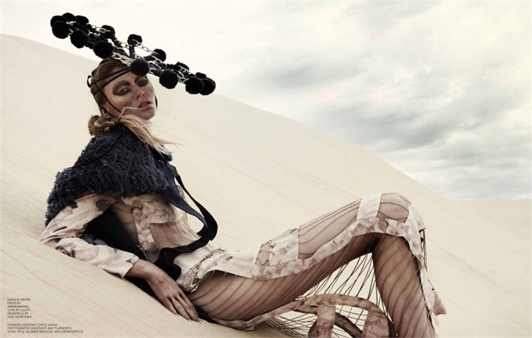 модель Натали Кейзер / Natalie Keyser, фотограф Rupert Tapper
