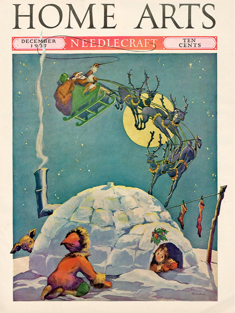 Cover by Rowell for Home Arts magazine, Dec 1937