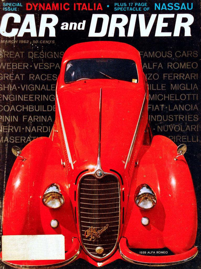 1962 Car and Driver Magazine, featuring Alfa Romeo