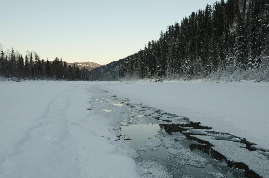 Река Абакан. Промоина
