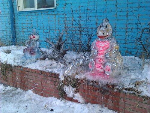 Снеговик и дракон