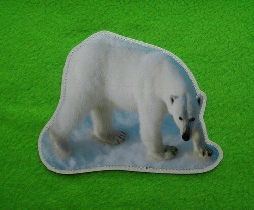 Развивающий коврик для детей Цирк... карточка Белый медведь