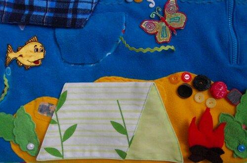 Детский развивающий коврик Моулвиль... море, остров, палатка, огонь
