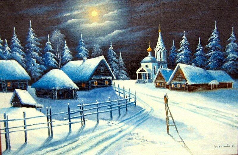 рюстлинг: все картины: зимний пейзаж